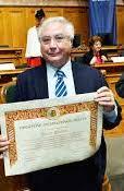 Manuel Castells, receiving the Balzan Prize (the sociological Nobel) in 2013