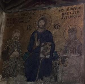 Emperor Constantine IX Monomachos and Empress Zoe with Jesus